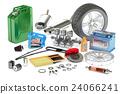 Car Parts, 3D rendering 24066241