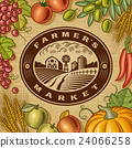 Vintage Farmers Market Label 24066258