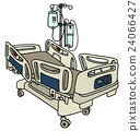 Hospital position bed 24066427