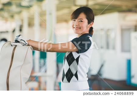 Japanese woman golfer , housewife 24068899