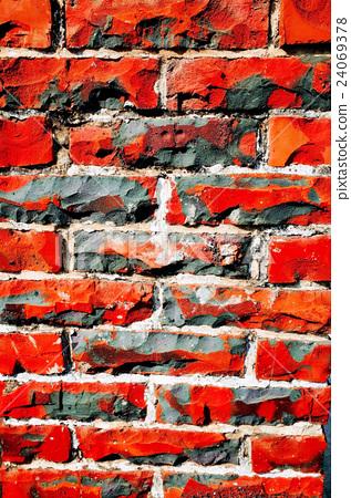 斑駁紅磚牆 24069378