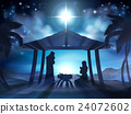 Manger Nativity Christmas Scene 24072602