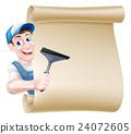 Window Cleaner Cartoon Sign 24072605