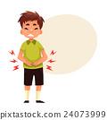 Little boy having stomach ache 24073999