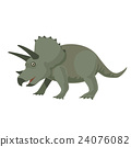 공룡 트리케라톱스 일러스트 24076082