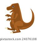 恐龍 矢量 白底 24076108