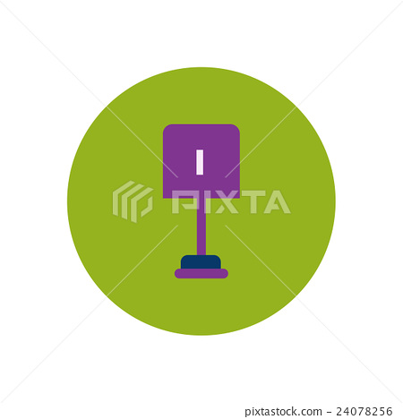 stylish icon in color circle small shovel 24078256