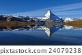 Matterhorn mirroring in lake Stellisee 24079238