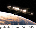 International Space Station Orbiting Earth 24082050