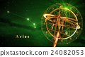 Armillary Sphere And Constellation Aries 24082053