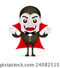 Vampire or Dracula on white background 24082515