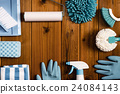 cleaning equipment, blank expression, wood grain 24084143