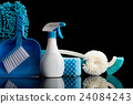 cleaning equipment, black background, black back 24084243