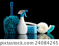 cleaning equipment, black background, black back 24084245