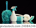 cleaning equipment, black background, black back 24084246