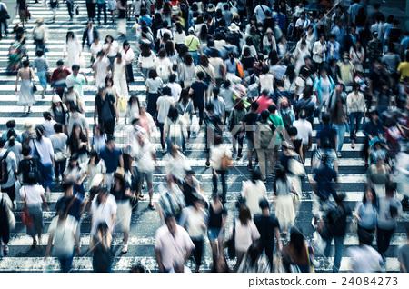 穿過行人過路處的人們 24084273