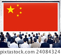China National Flag Seminar Business People Concept 24084324
