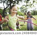 Child Children Childhood Hula Hoop Hooping Kids Concept 24084840