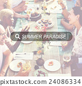 Summer Paradise Search Website Beach Concept 24086334