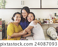 Mother Daughter Casual Adorable Heppiness Life Concept 24087093
