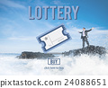 Lottery Bet Betting Jackpot Lucky Money Scratch Concept 24088651