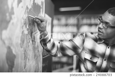 Stock Photo: Teacher Teach Teaching Geography Global Lesson Concept
