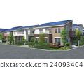 智能住宅 太阳能板 房屋 24093404