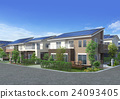 智能住宅 太阳能板 房屋 24093405