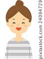 一個女人帶著微笑 24094729