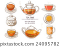 glass tea set color 24095782