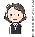 vector, vectors, businesswoman 24098022