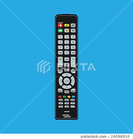 Black modern remote TV Control 24098910