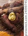 烤紅薯 秋之美食 紅薯 24099745