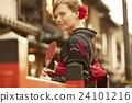 肖像 京都 和服 24101216