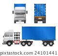 Trailer truck vector 24101441