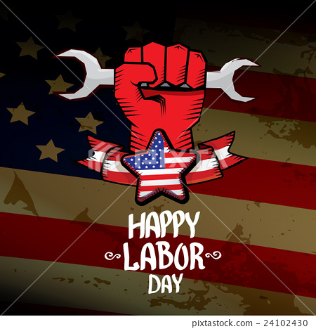 Stock Illustration: Usa labor day vector background.