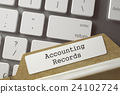 Folder Register with Accounting Records. 24102724