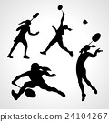 badminton, silhouette, player 24104267