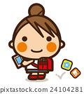 초등학생, 여자아이, 소녀 24104281