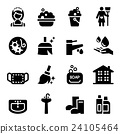 housekeeper & Cleaning icons set 24105464