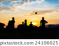 kids are playing soccer football for exercise. 24106025