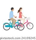 自行车 脚踏车 约会 24109245