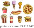 快餐 汉堡 披萨 24110247