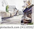 Sketch of Hachimoto inn Old town in Japan 24110562
