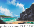 beautiful beach summer natural outdoor,painting 24113252
