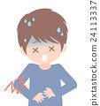 胃痛 腹痛 疼痛 24113337