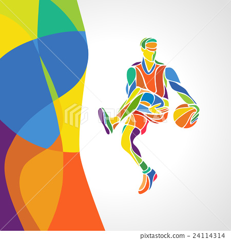 Rio. 2016 Brazil Games abstract colorful pattern 24114314