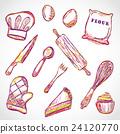 Kitchen accessories doodle 24120770