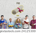 PhD Doctor of Philosophy Degree Education Graduation Concept 24125300