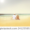Honeymoon Couple Summer Beach Dating Concept 24125565